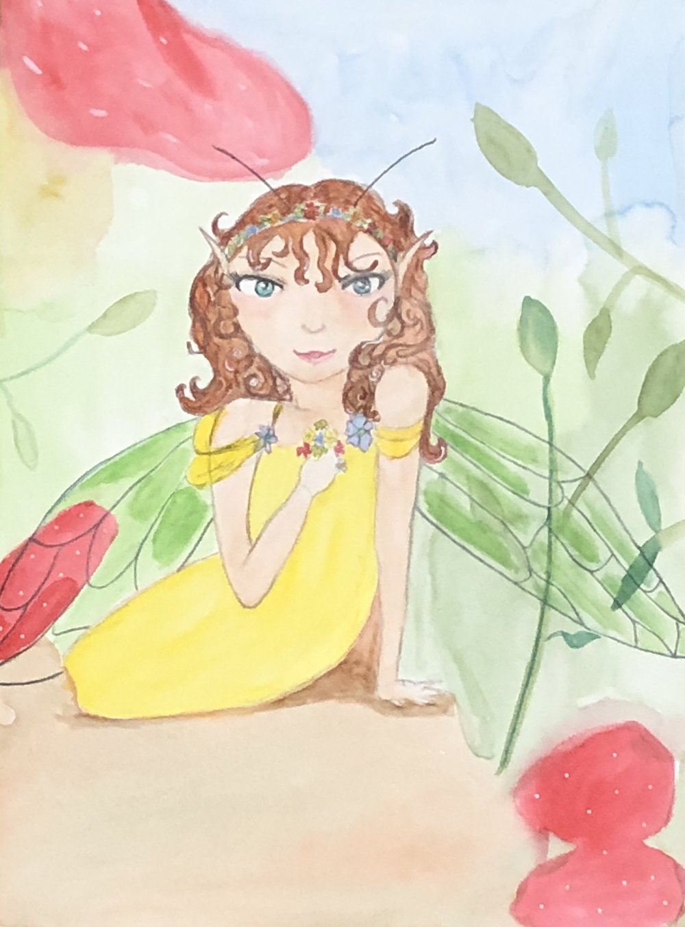 Watercolor faerie - lesson by Claudia Finelle