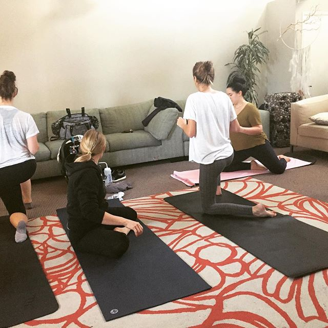 Queens in Training 👸. . . LOVE teaching the BIRTHFIT Breath & Flow class 💚. . Being around such amazing women & badass mamas gives me all the fuzzy feelings ✨. . Thank you for showing up for yourselves each week, and giving your mind, body and soul the love it deserves. 🙏🏻