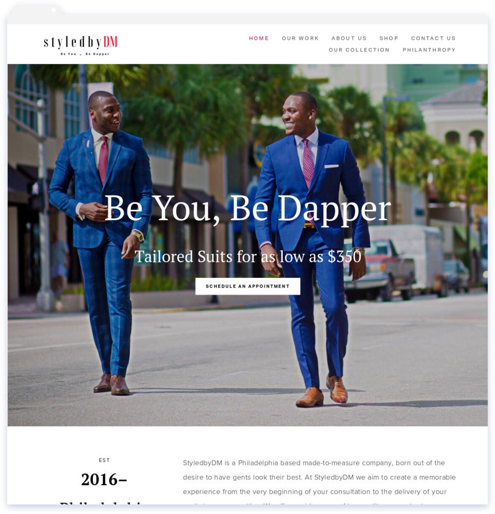 StyledbyDM, Custom Suits for Men -