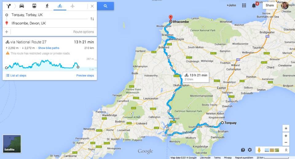 A quick 3-day trip through Devon, just over 200 km