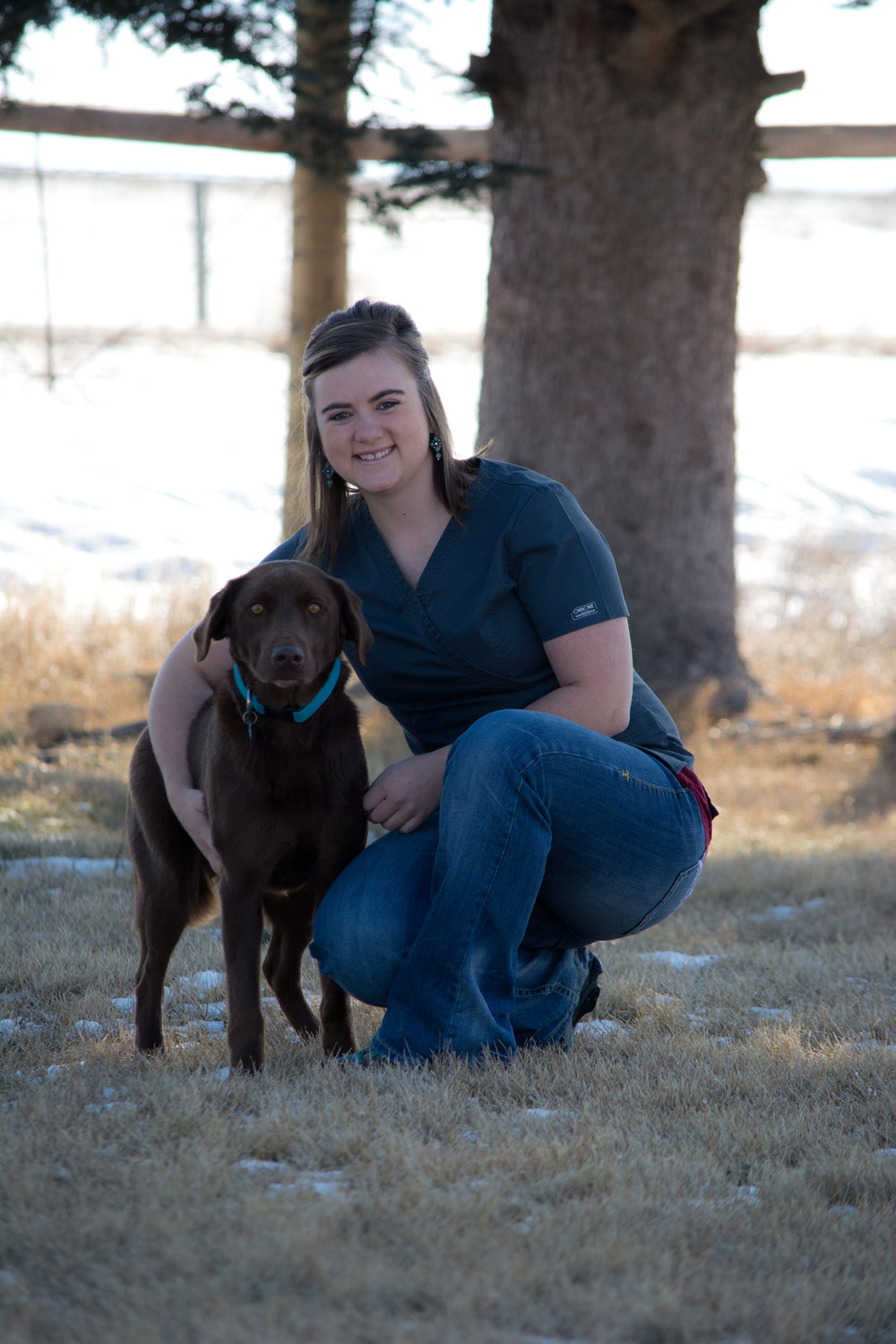 Lauretta Kolbeck, CVA - Lauretta has been with the Clark Fork Veterinary Clinic since 2013. She is the Office Manager, as well as one of the Certified Veterinary Assistants. She grew up in Dillon Montana on and around her grandparents' ranch. She graduated from Montana State University in Bozeman with a degree in Agricultural Education. She loves being involved in veterinary medicine and using her teaching background to help educate clients about the animals and their medical needs. Lauretta's passion is in beef cattle production and herd health planning. She enjoys riding horses and working for several of the local ranches on the weekends with her husband, Travis, and daughter, Kyla. She and her family enjoy hunting, fishing and camping with their two dogs, Cedar and Sage. Lauretta is a member of the Veterinary Hospital Managers Association and plans to continue her education in business management and veterinary medicine. Her goals include becoming a Certified Veterinary Practice Manager and Licensed Veterinary Technician.