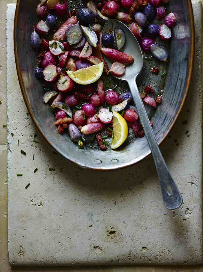 Roasted Radishes in Anchovy Butter