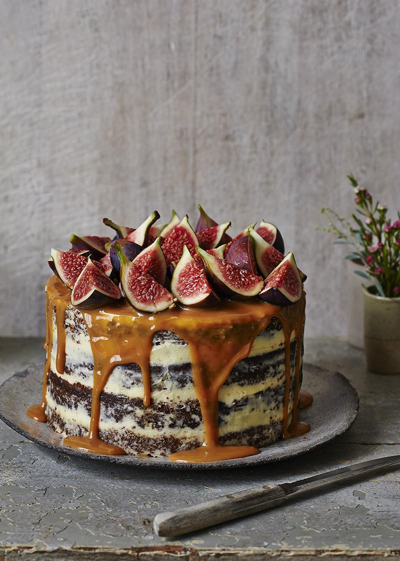 Ginger, Fig & Caramal Cake - Faith Mason.jpg