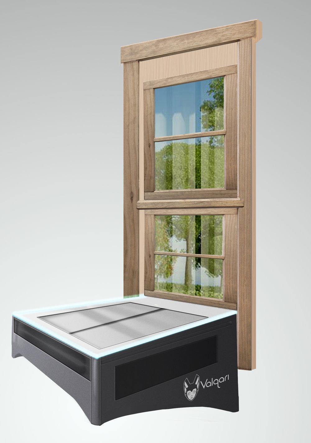 Window mounted RCVR-PAD