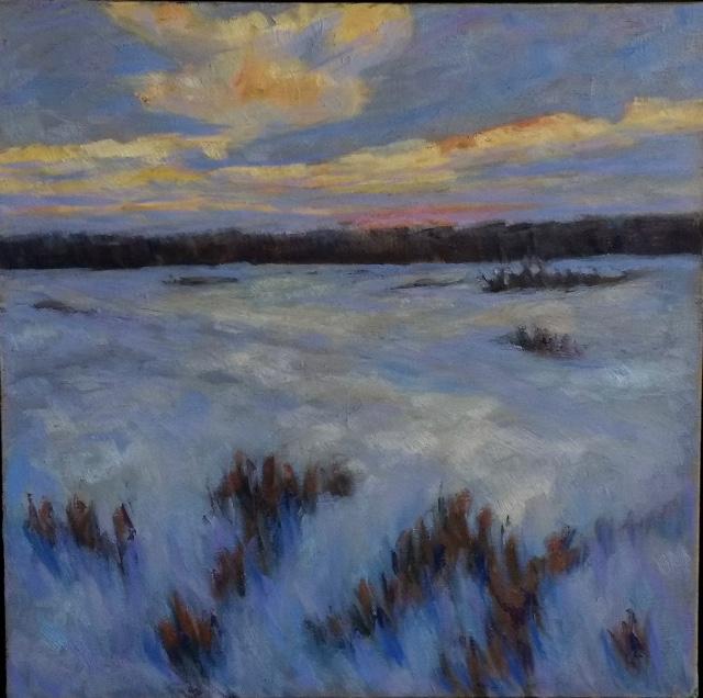 Eva Cincotta - Dusk, Winter Field