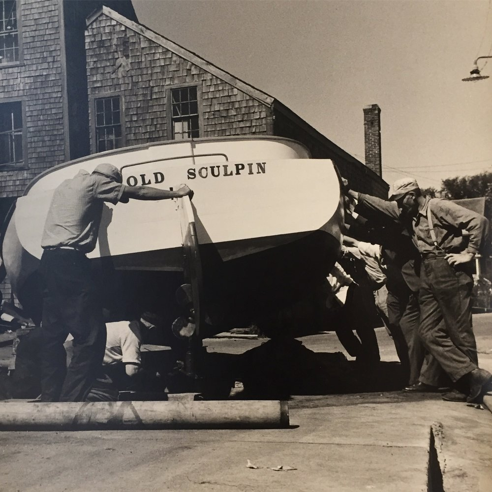 How a boatbuilders workshop became the first art gallery on Martha's Vineyard... - Click above title to read about the history of our building and the working Edgartown waterfront.
