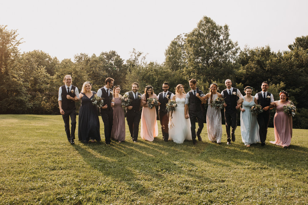 Bridal party portraits at the Hilltop