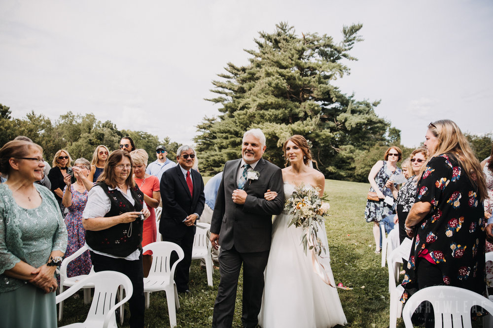 wedding ceremony outdoors in wisconsin