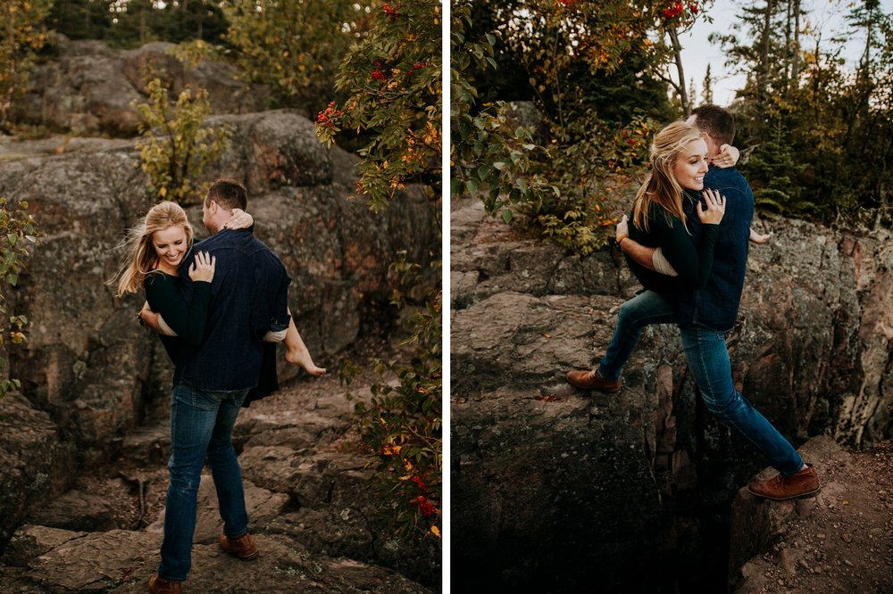 MN adventure engagement photos