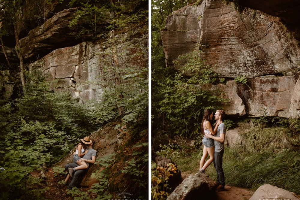 Minnesota hiking engagement photography