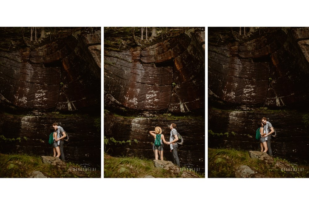 adventurous engagement photography in Minnesota
