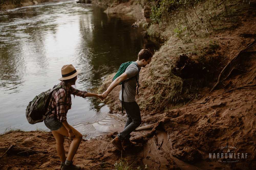 Minnesota hiking engagement photographer