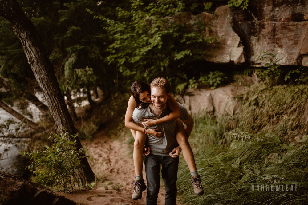 Fun and adventurous engagement photography in Minnesota