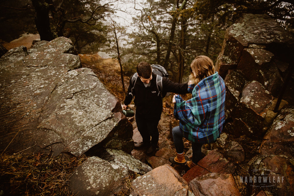 foggy-hiking-engagement-photos-devils-lake-state-park-Narrowleaf_Love_and_Adventure_Photographer-3510.jpg