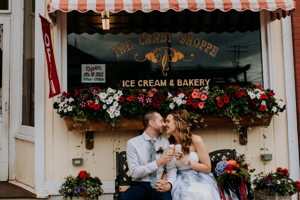 They were married on the beach of Lake Superior in Bayfield, WI