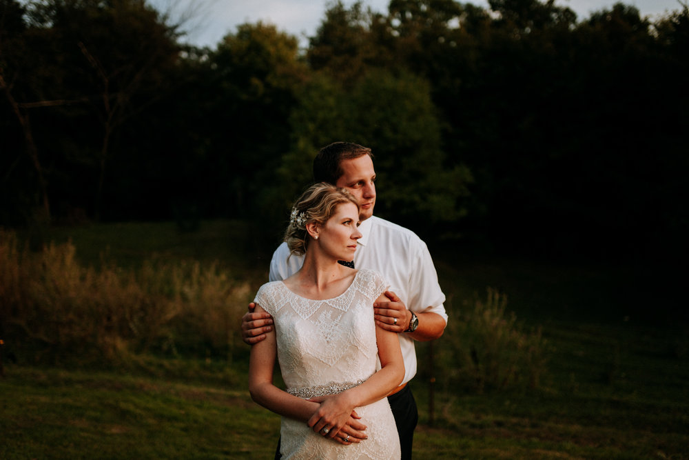 Beautiful backyard wedding ceremony in South Haven, WI