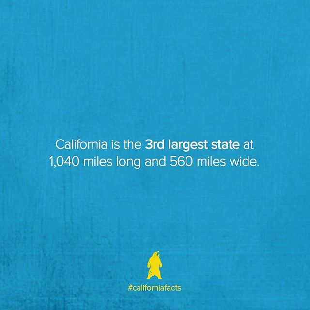 California's length is almost exactly double its width. #californiafacts • #loveyourstate #loveyourcity #californiadreamin #rp2018