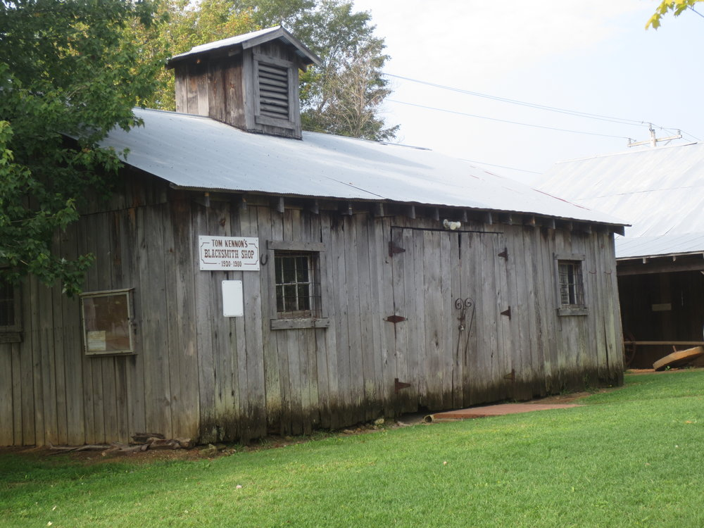 The Tom Kennon Blacksmith Shop - At the Heritage homestead