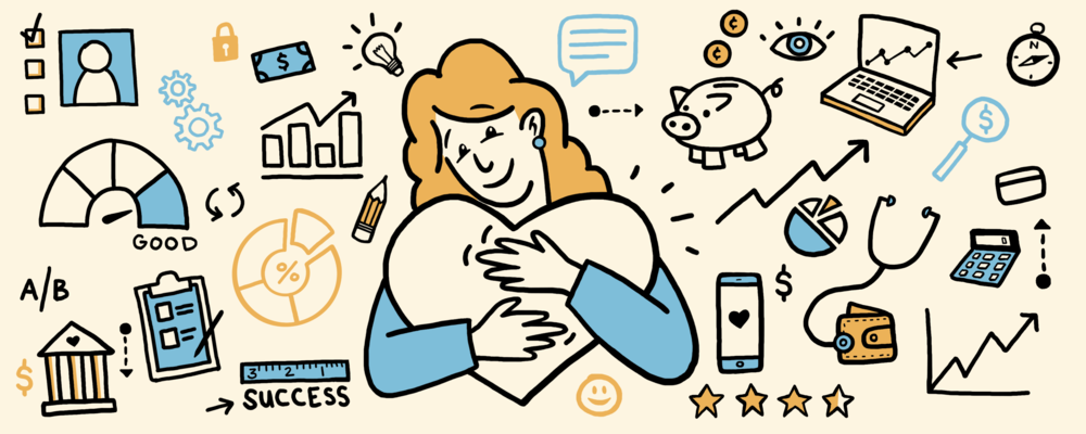 Header illustration for a medium article about  Experience Design