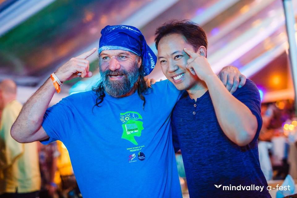 "Wim Hof (the ""Ice Man"") with Jim Kwik"