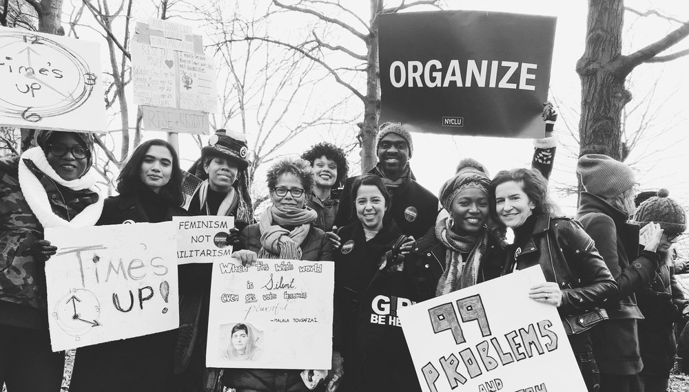 Girl Be Heard staff and participants at Women's March 2018