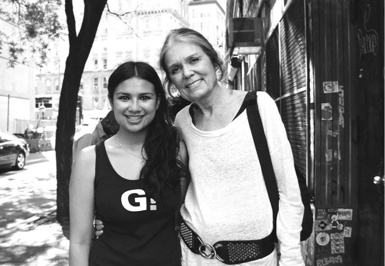 Gloria Steinem with Company Member Isabella Olaguera