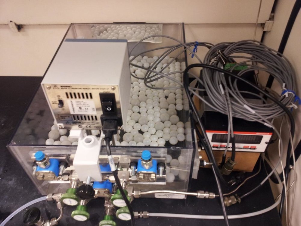 Pressure Decay Cell - Custom-built system for measuring pure-component adsorption equilibrium data.