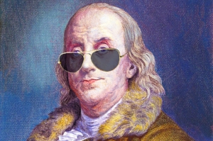 Ben Franklin w: Sunglasses.jpg