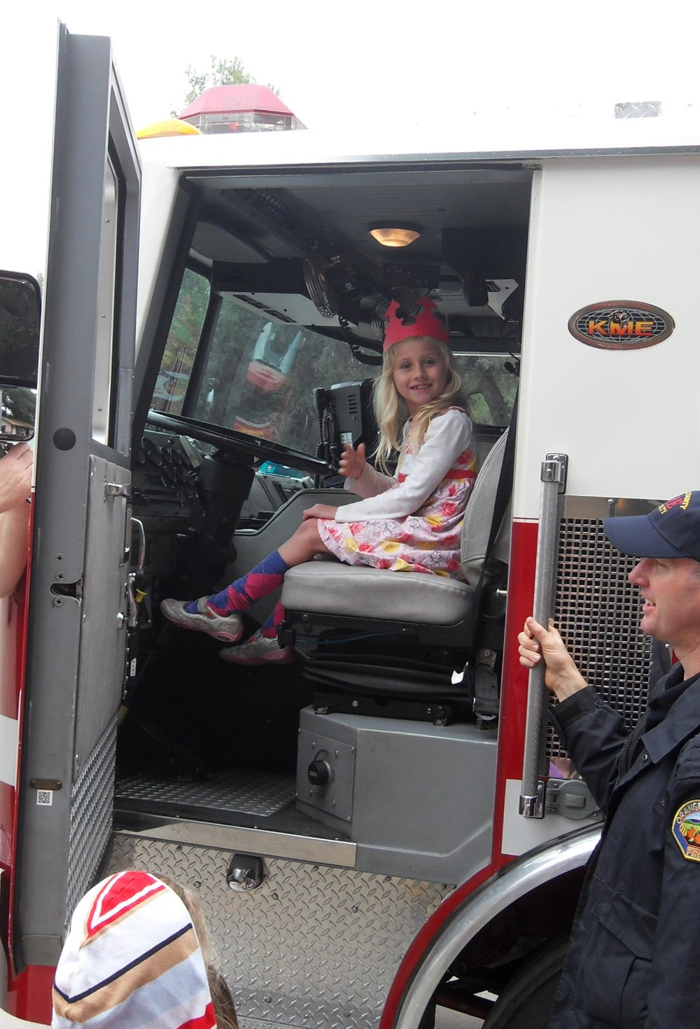 The Birthday Girl in the Fire Engine