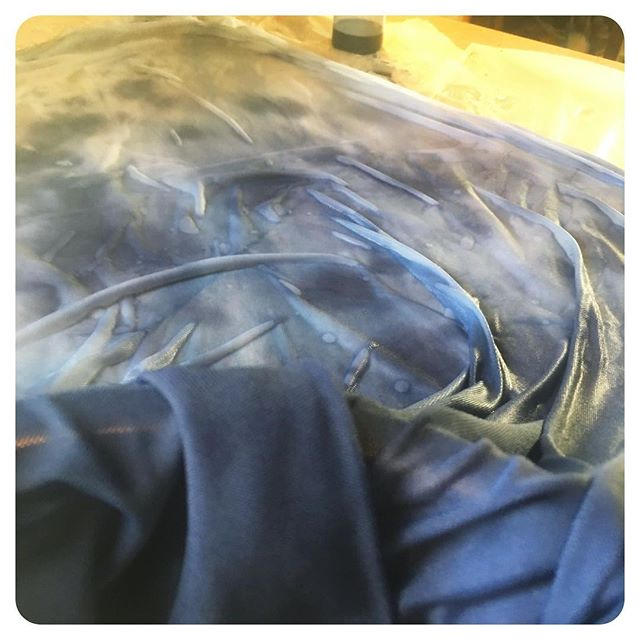 What? You don't spend Your #newyearsday making fabric look like the night sky?!?! #funwithfabric
