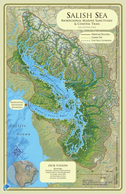 Salish Sea Marine Sanctuary Map  JPG  |  PDF