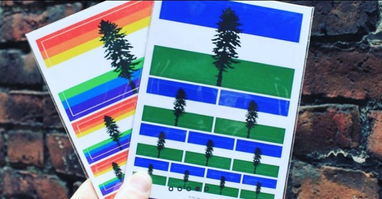 Cascadia Flag Sticker Sheets