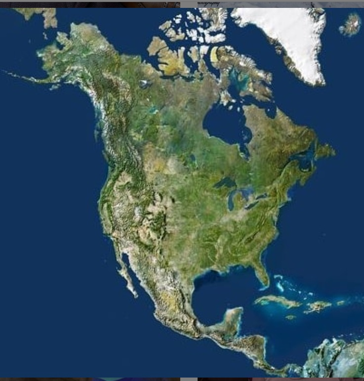 Beautiful Topographic Relief Map of North America