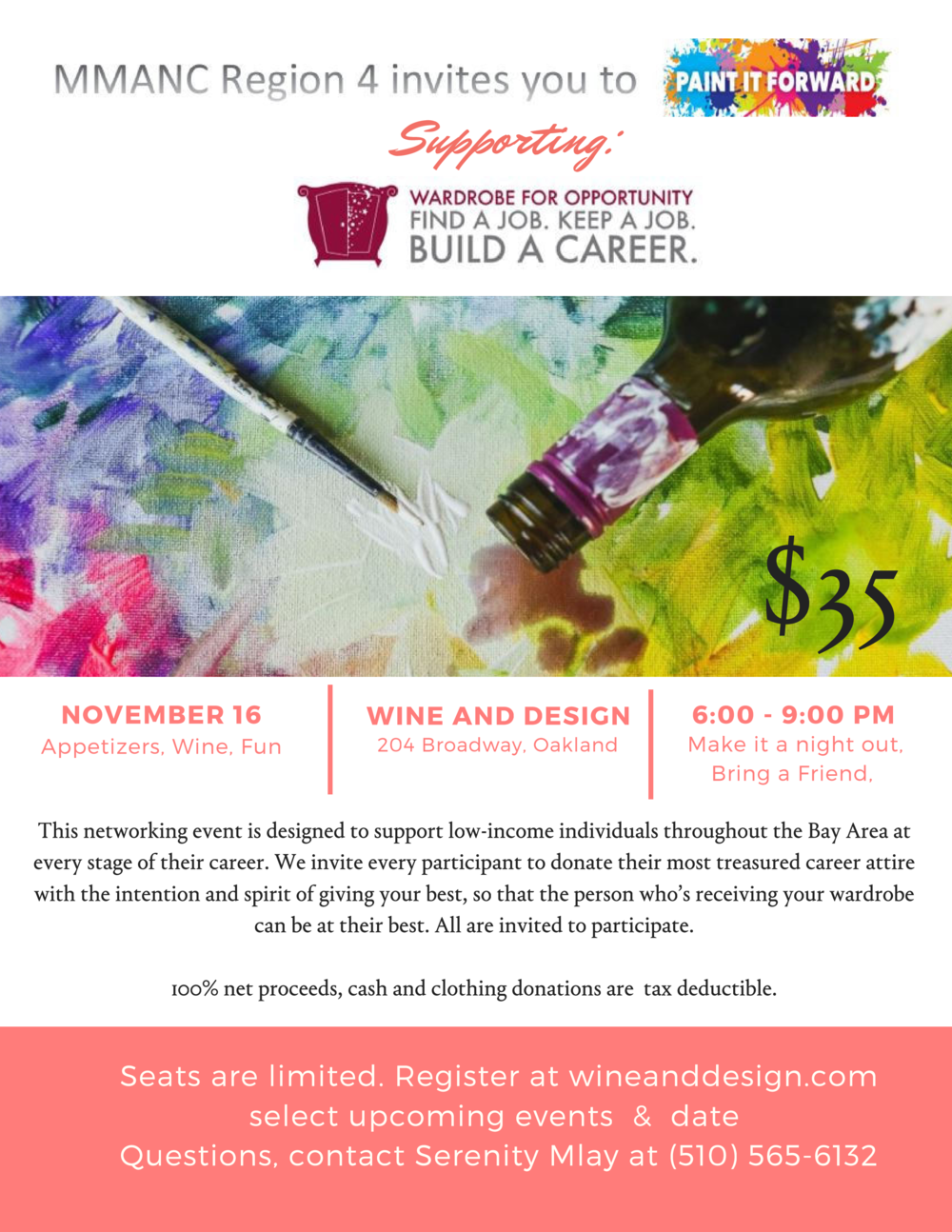 Wine and Design Event Paint It Forward