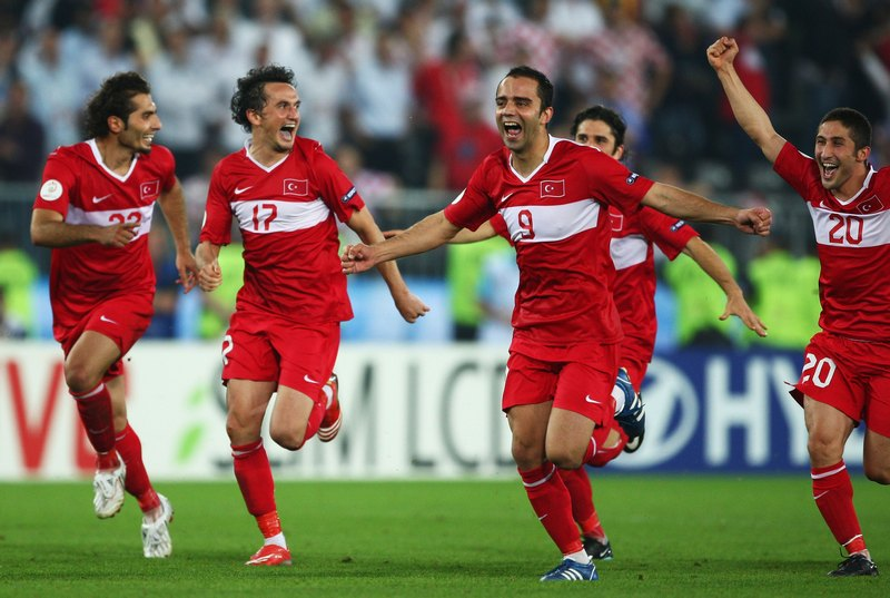 The Turkish national team at Euro 2008 - rising up from the moment when everyone thinks they are defeated. (Photo courtesy of  Futkolik ).