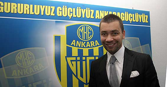 Ahmet Gokcek became president of Ankaragucu in 2009. (Photo courtesy of  Haber06 ).