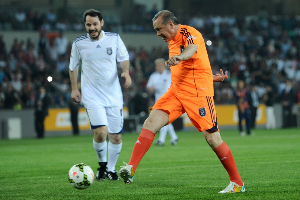 Recep Tayyip Erdogan playing for Basaksehir (Ozan Kose/AFP/Getty Images)