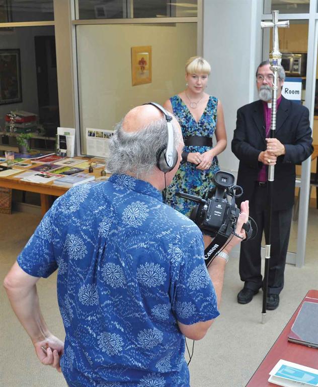 randy murray, melanie delva, and archbishop john privett