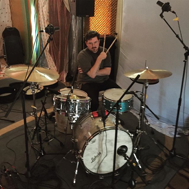 Recording some demos for the new album. Drums only. That's right, the new album is only drums that's it. Mr. Pert is big inspo. Stay tuned for an opus of shred #sadcops2.0 #artvongard @rush