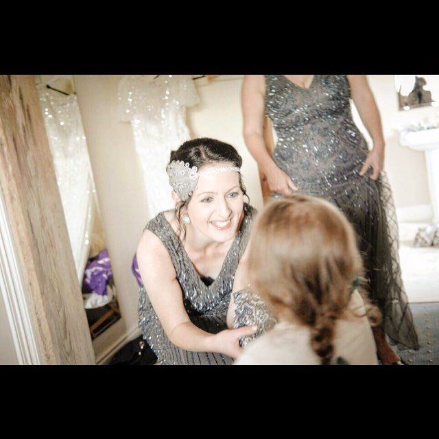 #grey and #silver #flapper style #bridesmaids