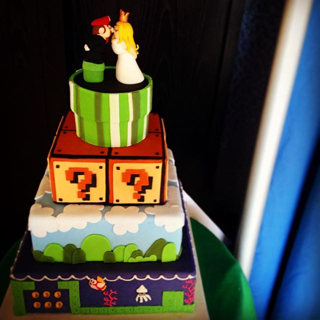 Some nostalgia for all the eighties kids #mario #cake by @itscomplicatedsugar
