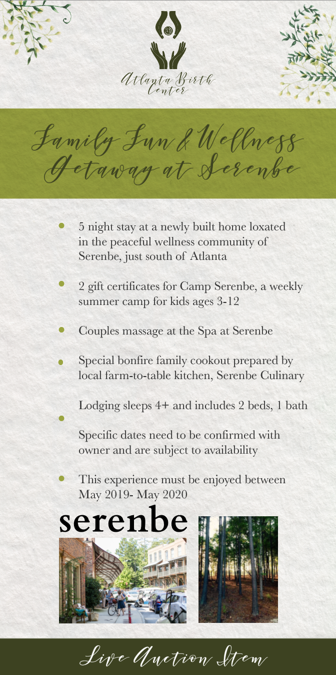 Family Fun and Wellness Getaway at Serenbe