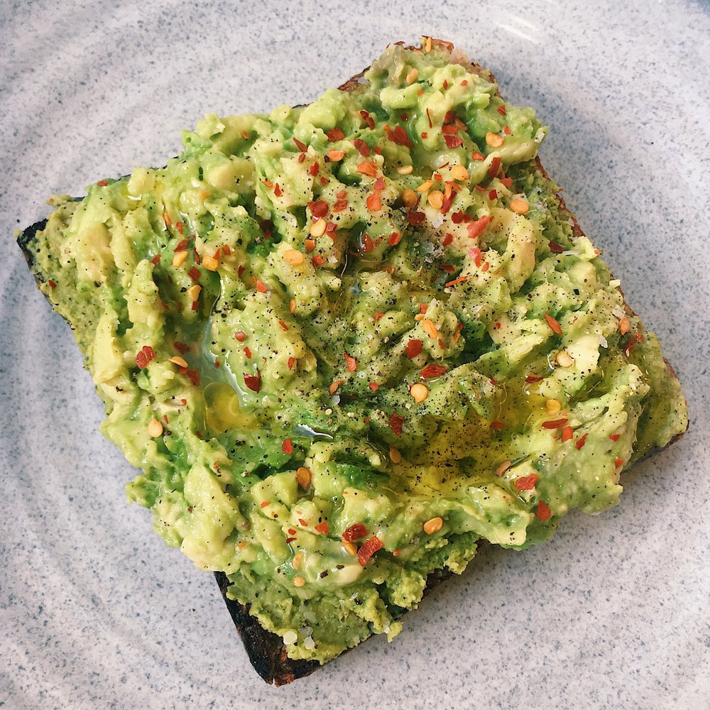 Photo: avocado toast from  Bluestone Lane  in NYC