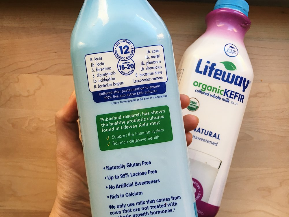 Lifeway kefir  has 12 live active cultures.