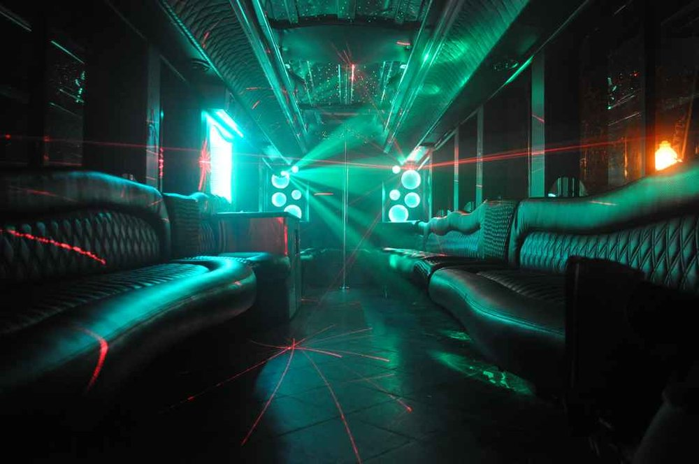 Party Bus Green Light Ambiance