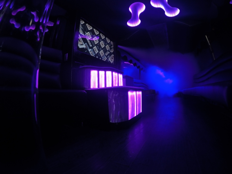 Chiller in Action on Interior Bar Station of 50 Passenger Party Bus.jpg