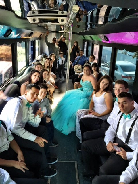 Wedding-Photo-Interior-Party-Limo-Bus-With-Everyone-In-Tuxedos-And-Formal-Wear