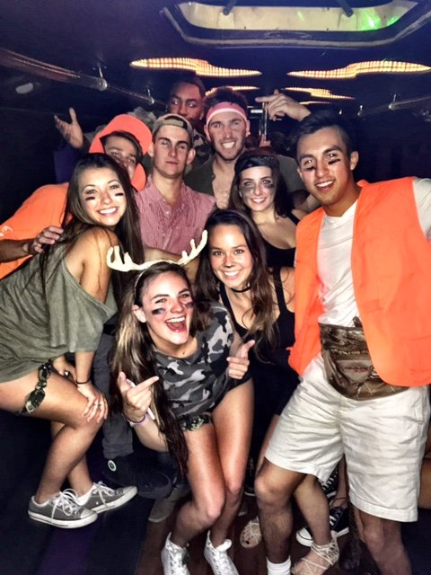 Deer Hunting Themed Event Party Bus with College Students.jpg