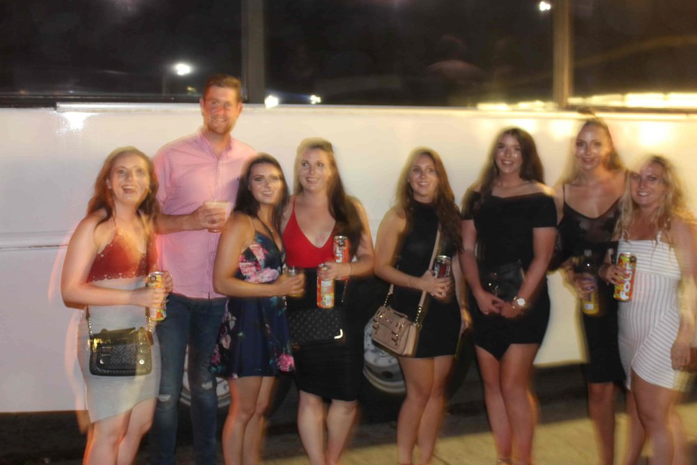 Impromptu Picture of Party Bus People outside the Patriot Party Bus.JPG