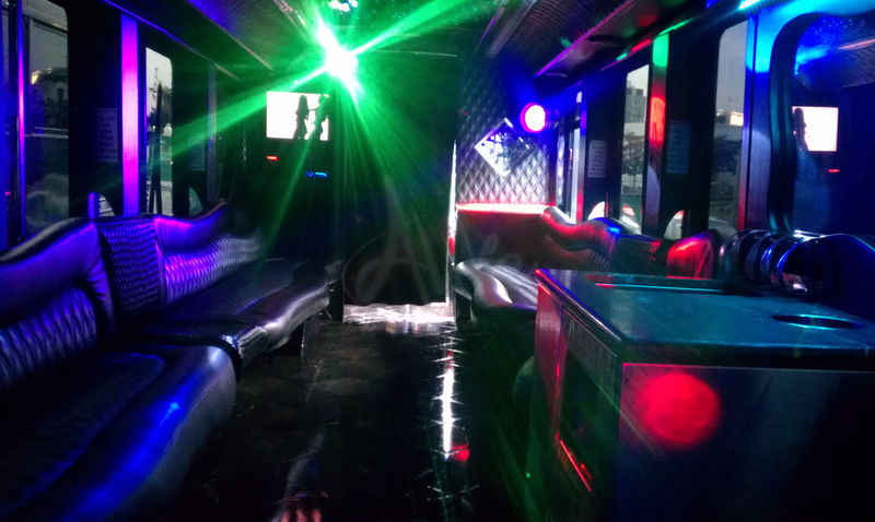 38 Passenger Party Bus Interior Photo